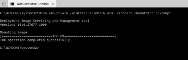Use DISM to mount a WIM file