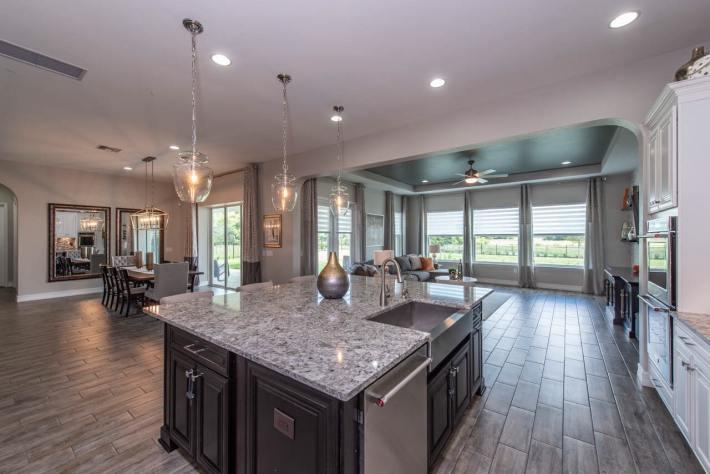 Open Kitchen Living Room Dining Room Design