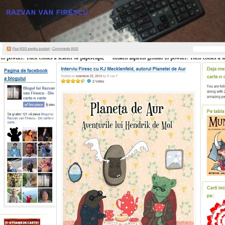 interviu Razvan Van Firescu noiembrie 2014