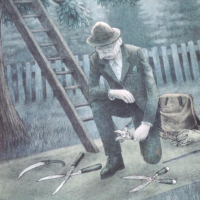 The Night Gardener - The Fan Brothers - detaliu al doilea personaj