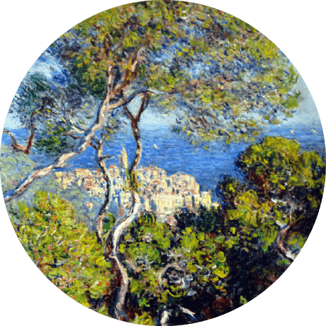 a painting of the Mediterranean Sea by Monet