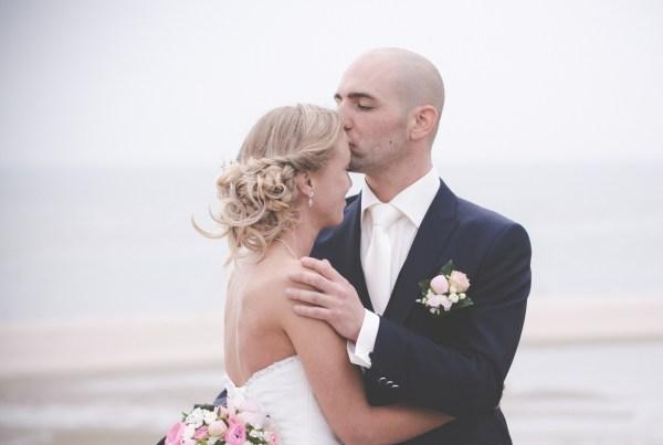 bruidsfotografie op het strand