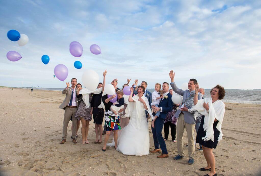 ballonnen oplaten strand