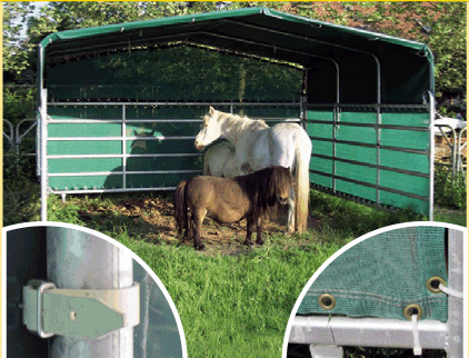 nos abris de prairie pour chevaux k