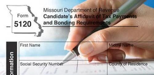 Missouri Candidate's Affidavit of Tax Payments