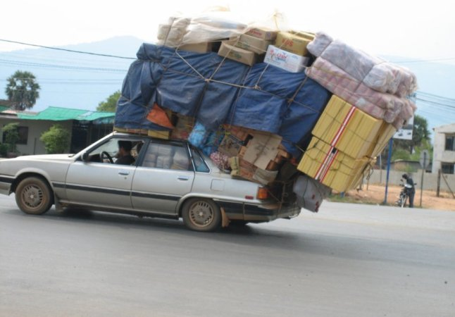 Indian Taxi overloaded