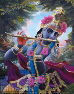 Krishna Dancing and Playing the Flute
