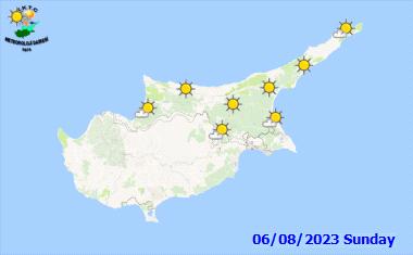 Das Wetter in Nordzypern - morgen