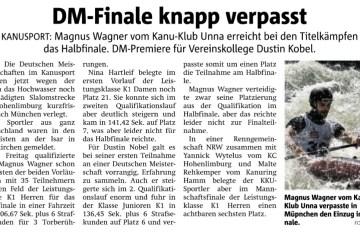 Hellweger berichtet: DM-Finale knapp verpasst