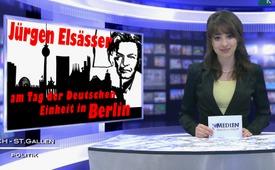 Jürgen Elsässer am Tag der Deutschen Einheit in Berlin