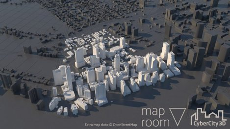 City model of Miami built with Maproom and CC3D buildings. This sample area ships with Maproom for free.