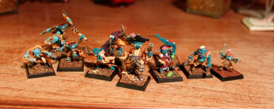Gruppenbild, Freebooters Fate, Goblin Piraten, Logo, Mystic Spirits, Rezension, Review, Goblin, Ork