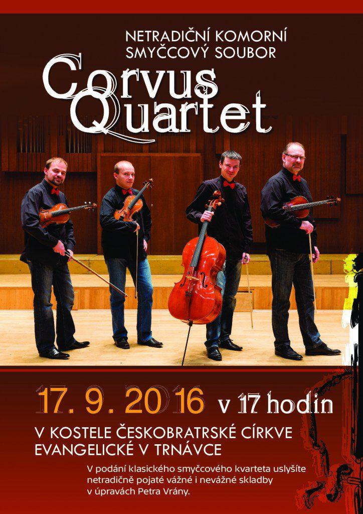 Corvus Quartet v Trnávce - plakát - www.KladrubskePolabi.cz