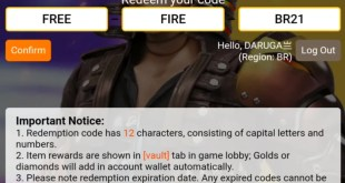 """Free fire redeem code today """" freefirebr21 """" hurry to get it new rewards and diamond gifts"""