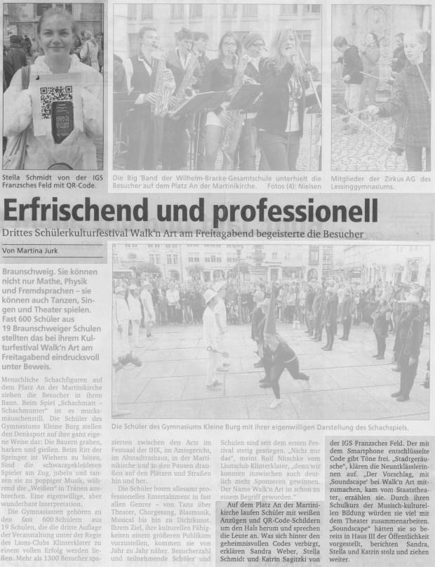 Braunschweiger Zeitung 03.06.2012
