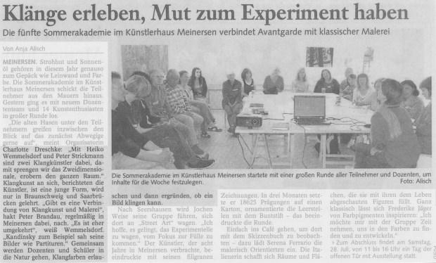 Gifhorner Rundschau 24.07.2012