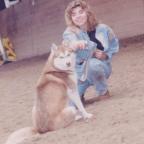 Husky hond rood en Karoline