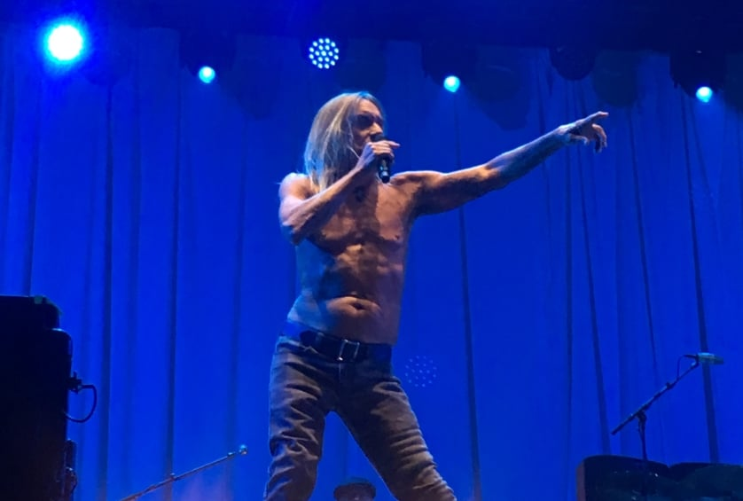 Iggy Pop in de Apollo tent