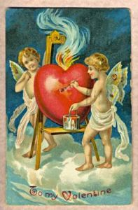 valentijn kaart uit 1909