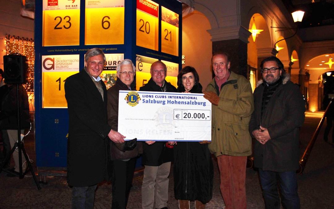 Lions Club Hohensalzburg: Adventkalender-Eröffnung