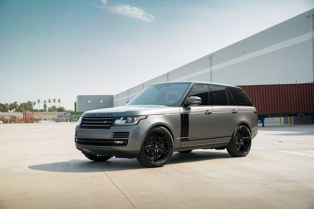 Range Rover HSE KlasseniD Wheels M53R Matte Black Face Gloss Black Windows 2