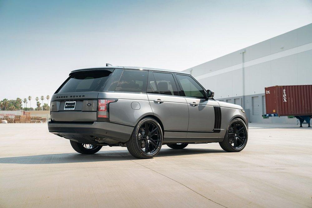 Range Rover HSE KlasseniD Wheels M53R Matte Black Face Gloss Black Windows 5