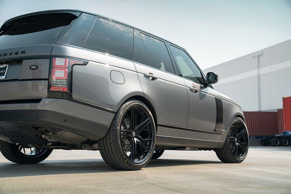 Range Rover HSE KlasseniD Wheels M53R Matte Black Face Gloss Black Windows 6