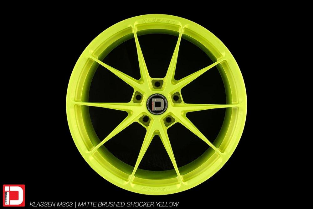 KlasseniD Wheels | MS03 Matte Brushed Shocker Yellow