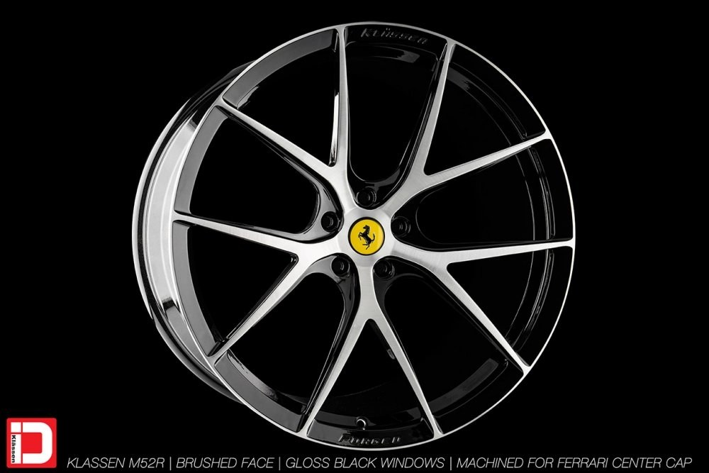 KlasseniD Wheels M52R – Brushed with Gloss Black Windows 2