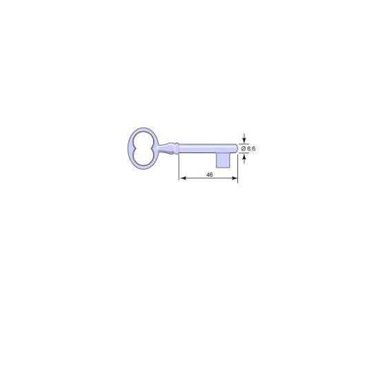 Nyckelämne 5232 För Klosett- och Garderobslås