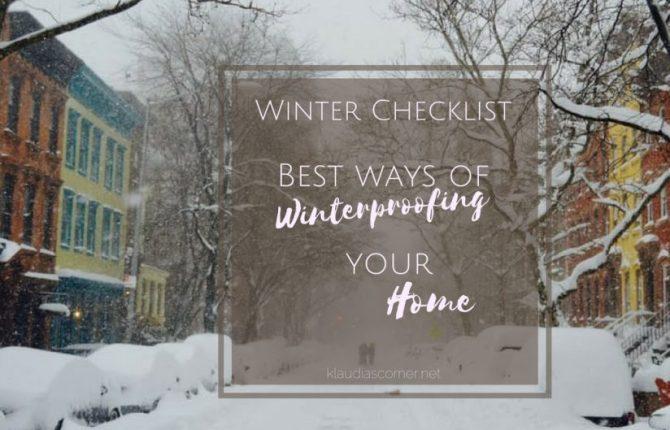 Preparing For Winter Checklist