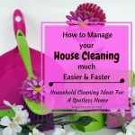 Household Cleaning Ideas – How To Manage Your House Cleaning Jobs Much Easier