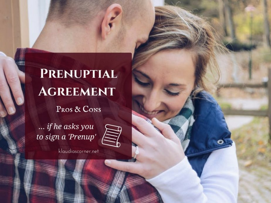 Prenuptial Agreement Contract Pros Cons Of Signing