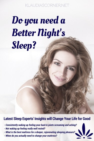 How to Get a Better Sleep - klaudiascorner.net©