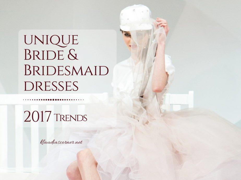 Wedding and Bridesmaid Dresses Trends 2017 - klaudiascorner.net