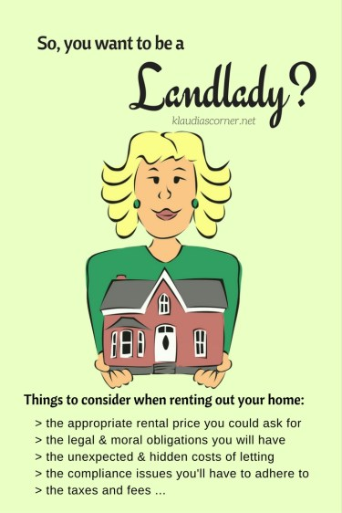 So, you want to be a landlady? Ultimate guide on how to rent out your home - klaudiascorner.net©