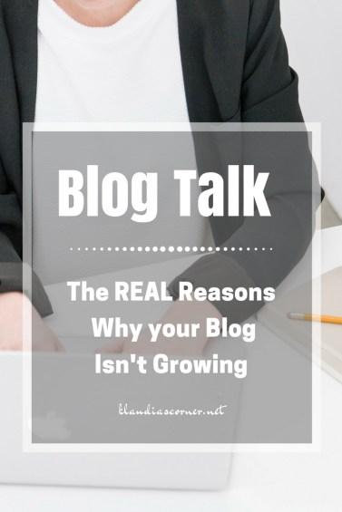 Blog Talk & Tips - The Real Reasons Why Your Blog Isn't Growing - klaudiascorner.net