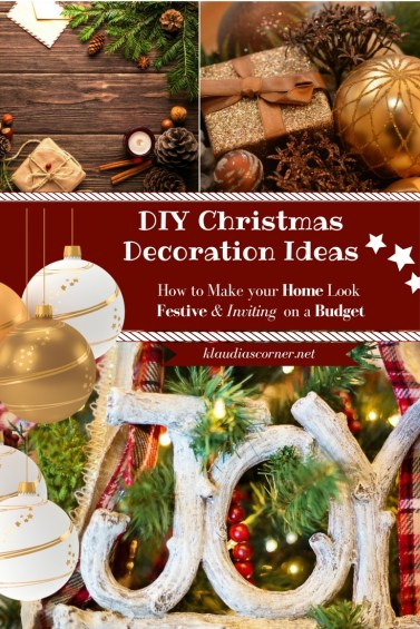 Cheap Christmas Decorations To Make Your Home Look Festive & Inviting