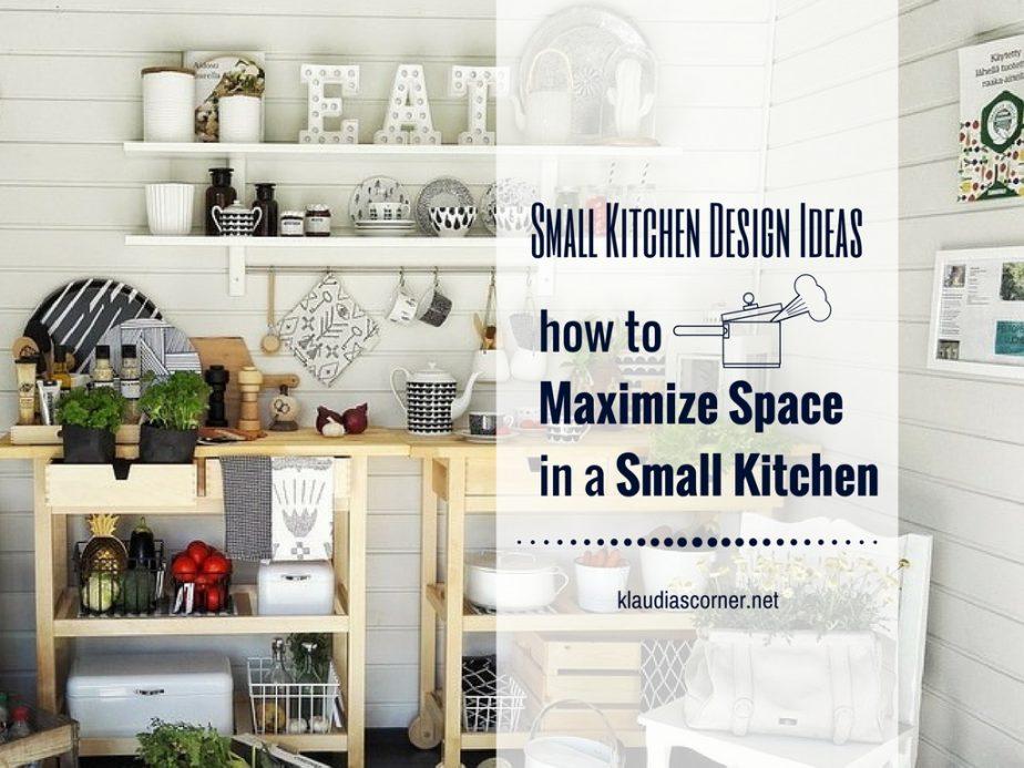 Small kitchen design ideas how to maximize space for How to maximize space in a small room
