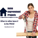 Home Improvement Tips – When To Rather Leave It To The Pros
