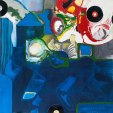 Klaus Killisch, Halleluhwah, 2012, mixed media on canvas, 200x200cm