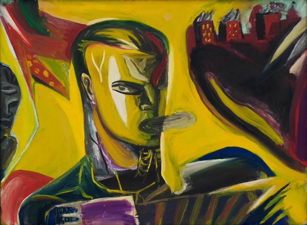 Klaus Killisch, Tango bis es weh tut, 1989, oil on canvas, 130x175, private collection