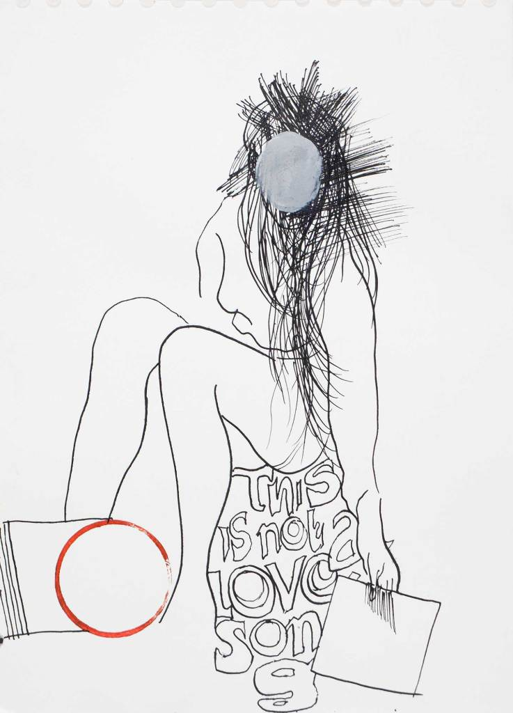 Klaus KIllisch, this is not a love song, 2015, ink on paper, 30 x 21 cm