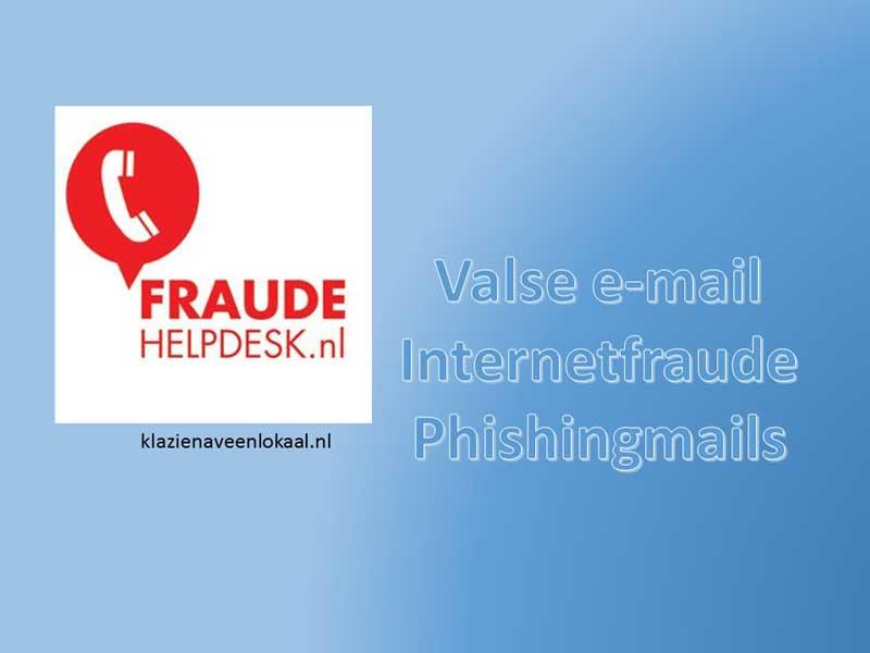 fraudehelpdesk, valse e-mail