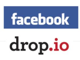 loghi di drop io & facebook