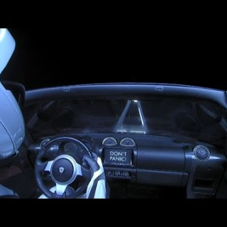Tesla nello spazio