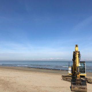 Fotografia panorama invernale spiaggia di Riccione dalla 105