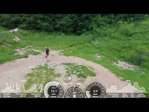 "screnshot video Parrot Bebop 2 Drone ""followme"" 3° prova"