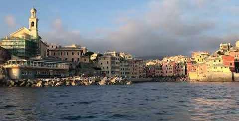 Boccadasse di Genova vista dal mare sul J24 by Stephen Kleckner