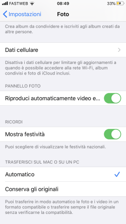 Screenshot risoluzione problemi di trasferimento foto da iPhone a Windows 10